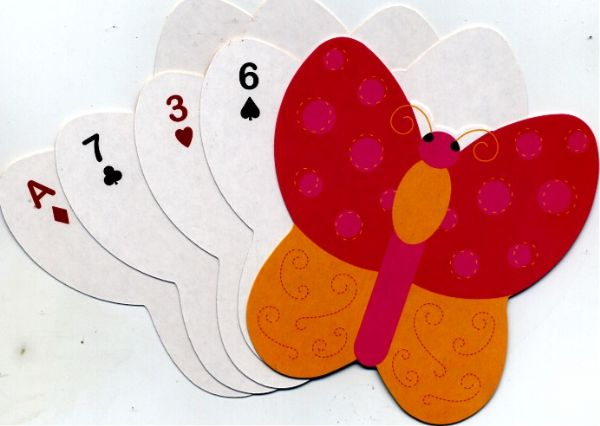 Butterfly - 5 Shaped Playing Cards